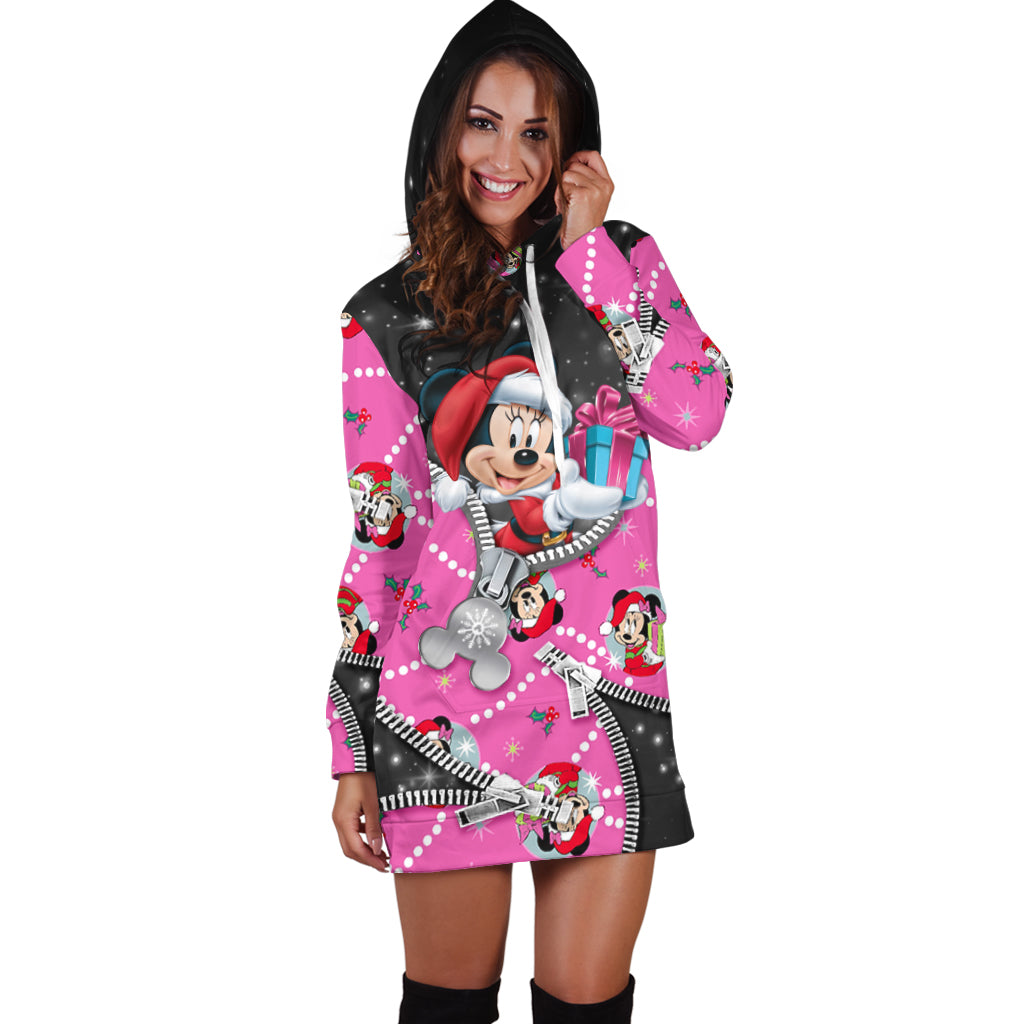 Minnie Christmas Hoodie Dress