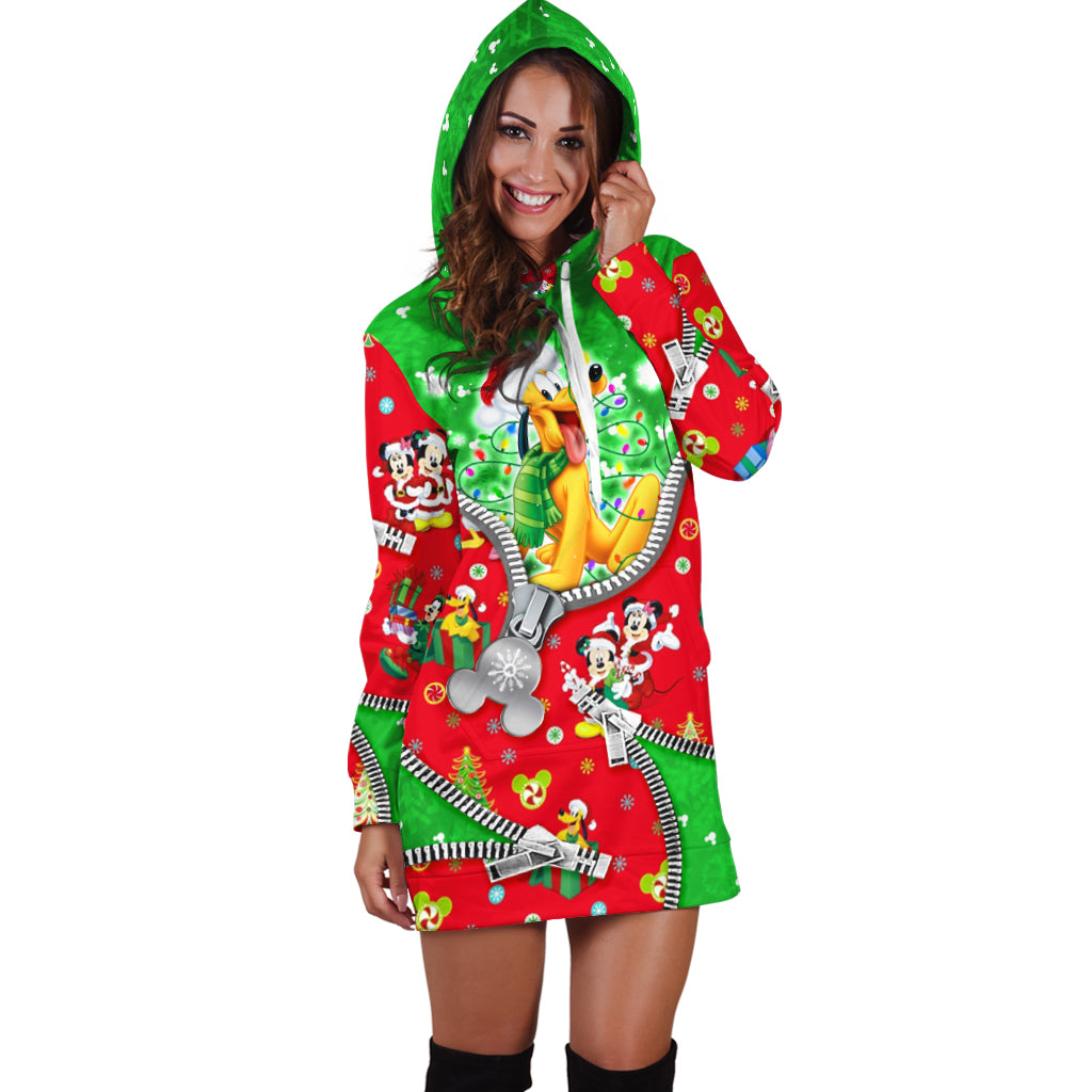 Pluto Christmas Hoodie Dress