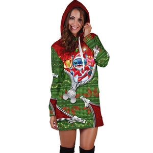 Stitch Christmas Hoodie Dress