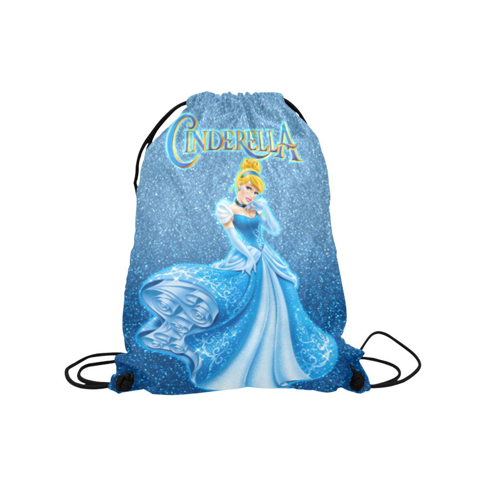 Cinderella Medium Drawstring Bag Model 1604 (Twin Sides) 13.8
