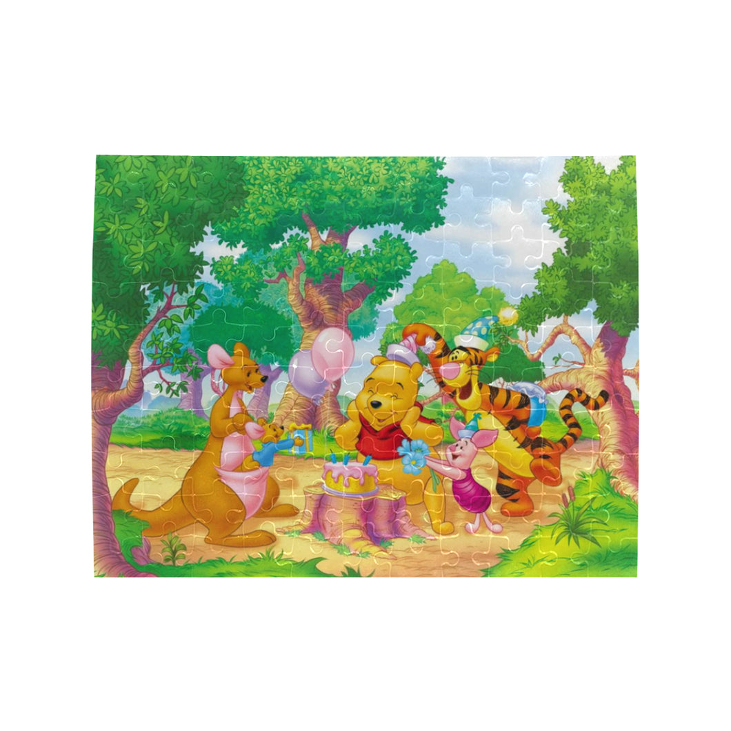 Pooh n Frineds Rectangle Jigsaw Puzzle (Set of 110 Pieces)
