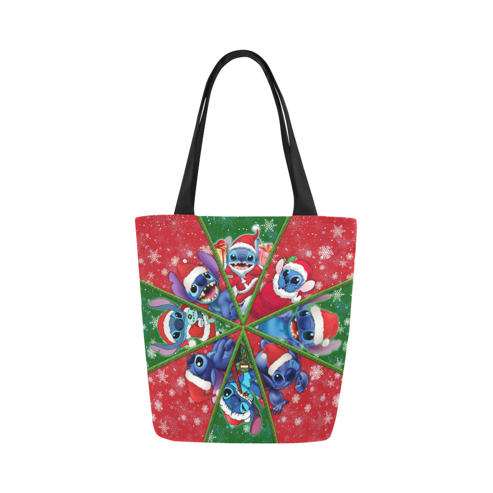 Stitch Christmas Canvas Tote Bag (Model 1657)