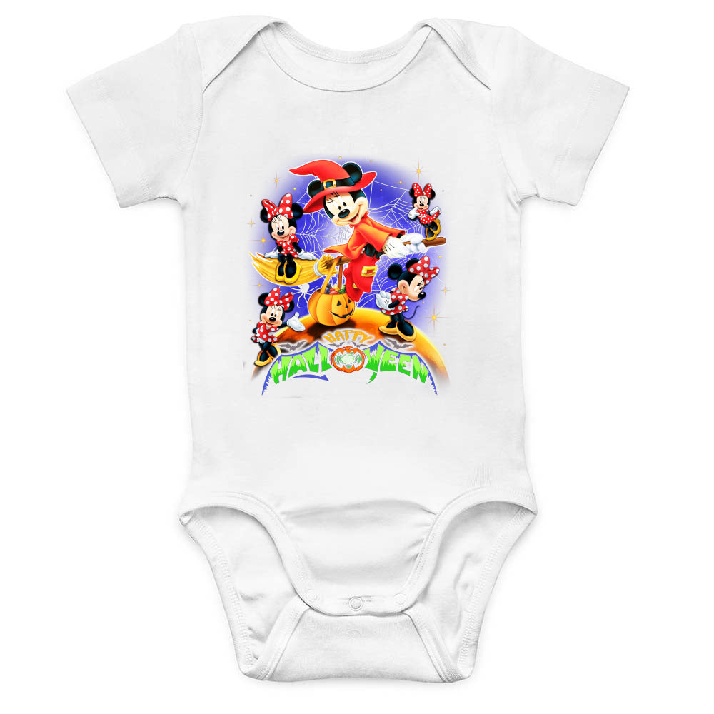 Halloween Mickey n Minnie Baby Bodysuit