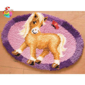 Horse Embroidery Carpet