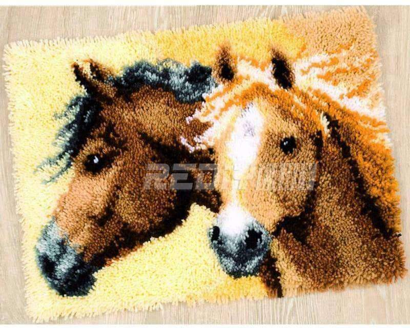 Horse Lovers Embroidery Carpet