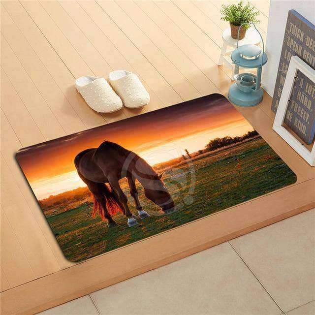 Horse sunset Doormat