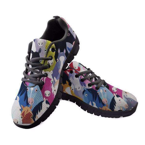Colorful Horse Printed Women Sneaker