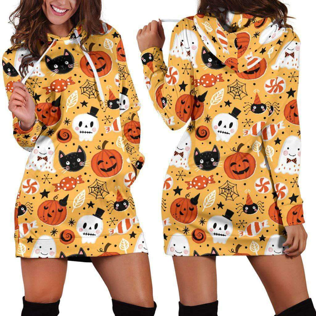 HALLOWEEN CATS - HOODIES DRESS