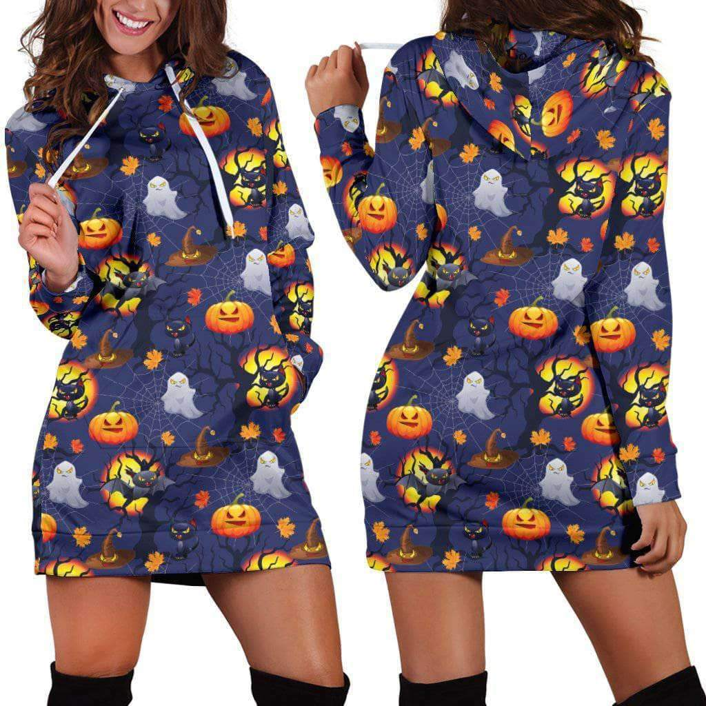 HALLOWEEN CATS - HOODIE DRESS
