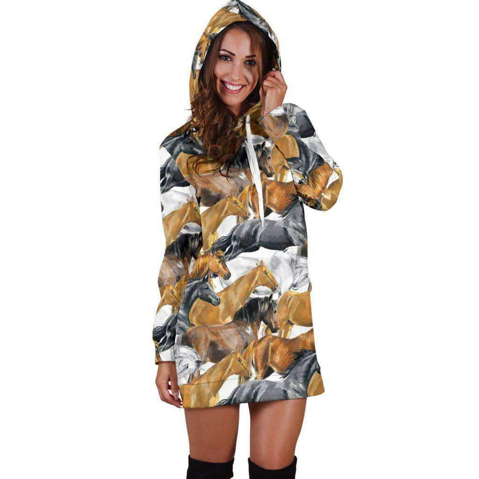 HOODIES DRESS FOR HORSE LOVERS-O