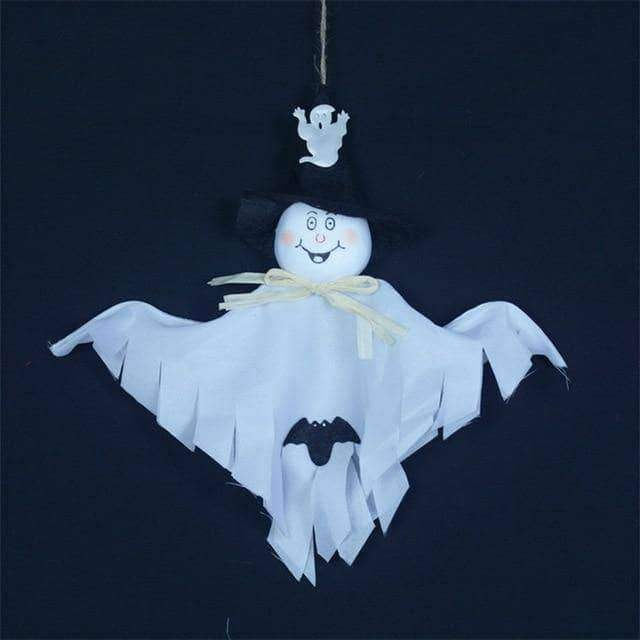 Hanging Ghost Craft For Halloween Decoration
