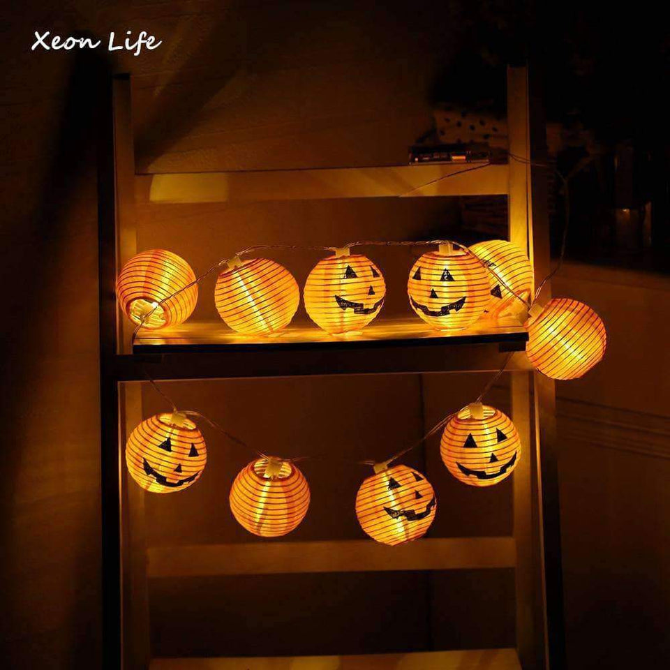New 1 Set Pumpkin 10 LED String Lights Halloween Decoration