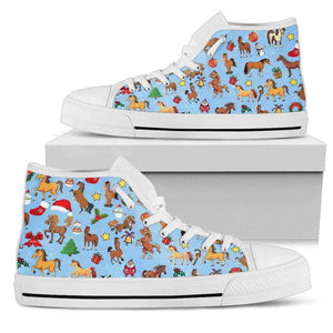 CHRISTMAS HORSE - MEN'S HIGH TOP [ Express Shipping included ]  SHOE - LT
