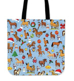 CHRISTMAS HORSE - TOTE BAGS - LT