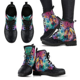 Horse Head Colorful Women's Leather Boots