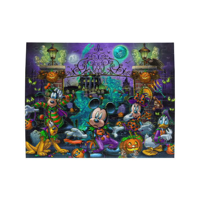 Mickey n Friends Halloween Rectangle Jigsaw Puzzle (Set of 110 Pieces)