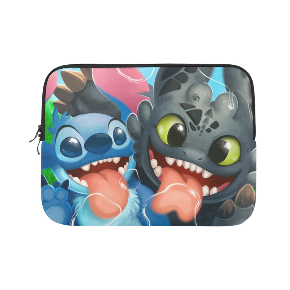 Stitch and Toothless Laptop Sleeve