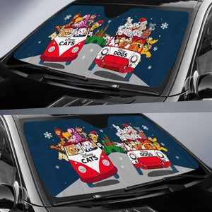 Q. DOGS & CATS CHRISTMAS - auto sun shades