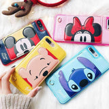 New 3D Bracket Stitch Minnie Wallet