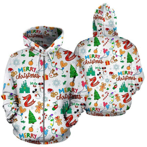 Q. CHRISTMAS 9 - ZIP-UP HOODIE