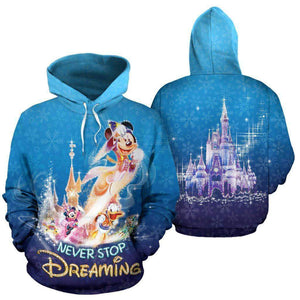 Mickey And Friends - Blue - Hoodie