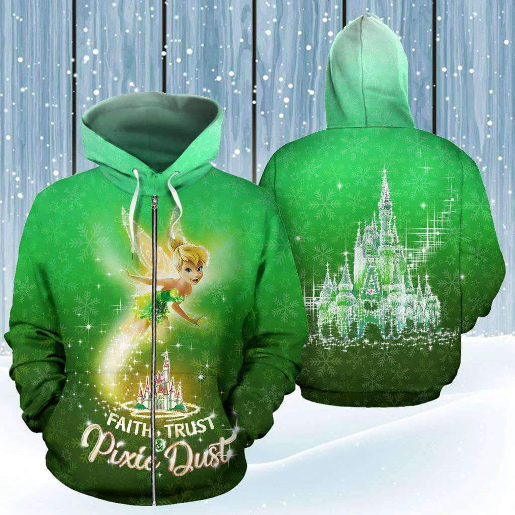 Tinker Bell - Green - Zip-up Hoodie