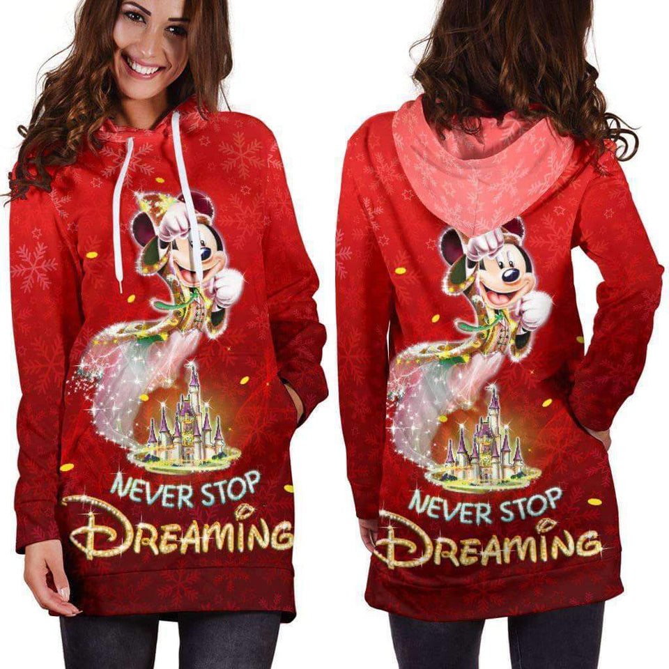 MICKEY - RED - HOODIE DRESS