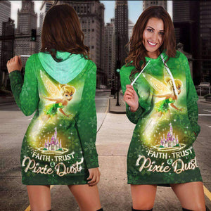 TINKER BELL - GREEN - HOODIE DRESS