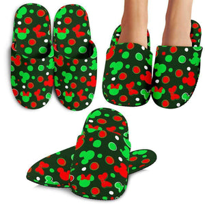 Q. MICKEY CHRISTMAS 10 - SLIPPERS.