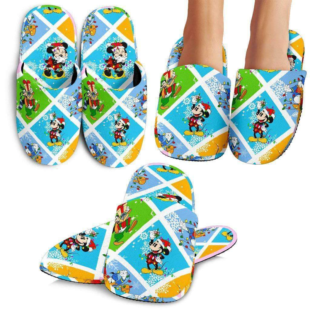 Q. MICKEY CHRISTMAS 12 - SLIPPERS