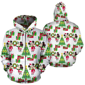 Disney Christmas Tree - Zip-up Hoodie