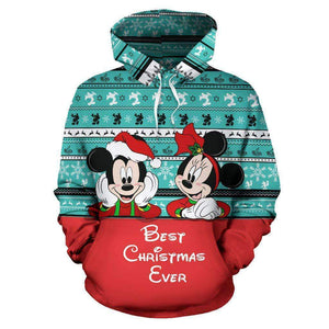 Mickey And Minnie Mouse - Xmas - Hoodie
