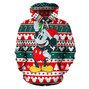 Q. MICKEY CHRISTMAS - ALL OVER HOODIE