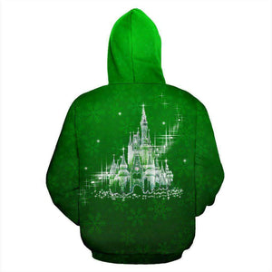 Mickey Mouse Face - Green - Zip-up Hoodie