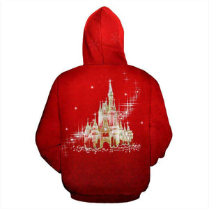Mickey Mouse Face - Red - Zip-up Hoodie