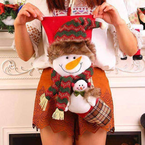 Large Santa Claus Snowman Christmas Stocking