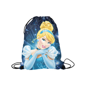 "Cinderella - Medium Drawstring Bag Model 1604 (Twin Sides) 13.8""(W) * 18.1""(H)"