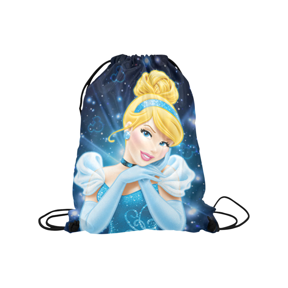 Cinderella - Medium Drawstring Bag Model 1604 (Twin Sides) 13.8