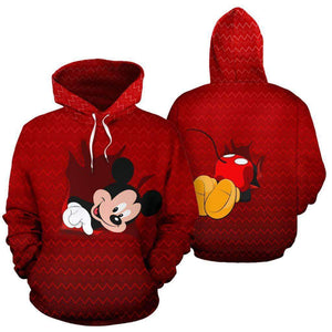 Mickey Cute All Over Hoodie