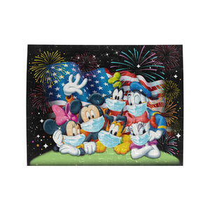 Mickey n Friends Flag Us Rectangle Jigsaw Puzzle (Set of 110 Pieces)
