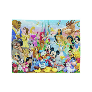 Characters Disney Rectangle Jigsaw Puzzle (Set of 110 Pieces)