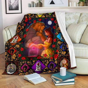 Beauty And The Beast - Premium Blanket