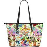 DISNEY CHARACTERS - Large Leather Tote Bag