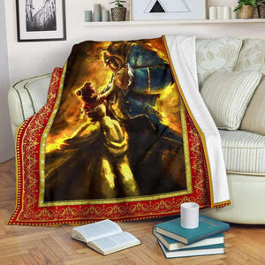 -Beauty And The Beast v1 Blanket