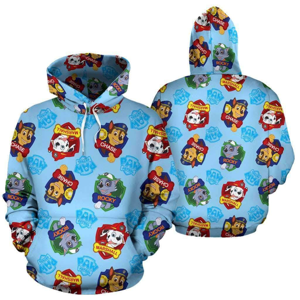 -Paw Patrol All Over Hoodie v8