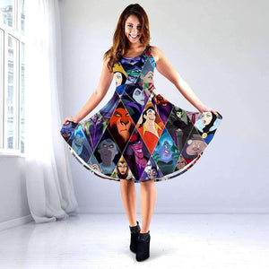 DISNEY VILLAINS - Midi dress
