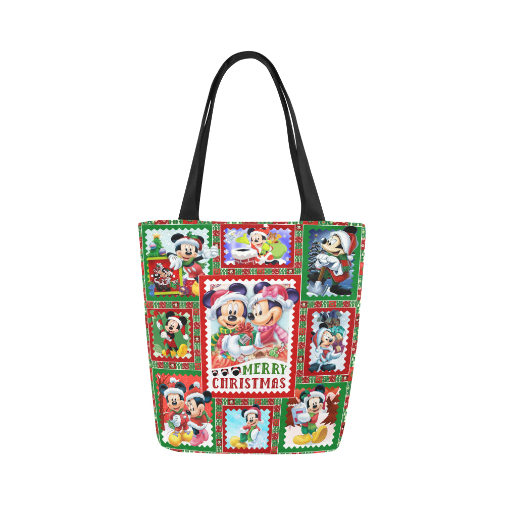 Mickey Minnie Merry Christmas Canvas Tote Bag (Model 1657)