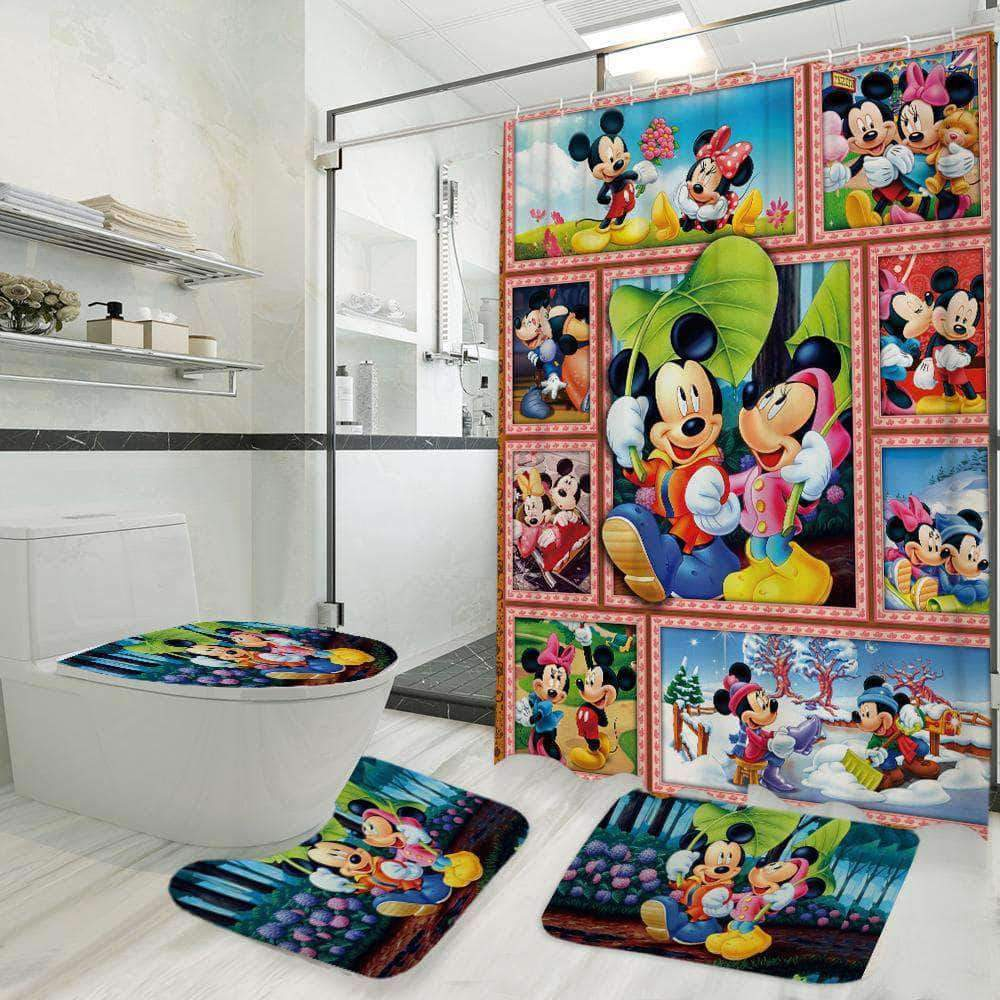 Mickey And Minnie - Bathroom Set