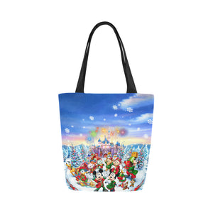 Disney Character Christmas Canvas Tote Bag (Model 1657)
