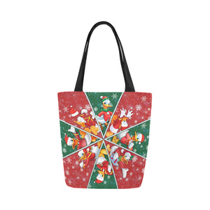 Donald Duck Christmas Canvas Tote Bag (Model 1657)